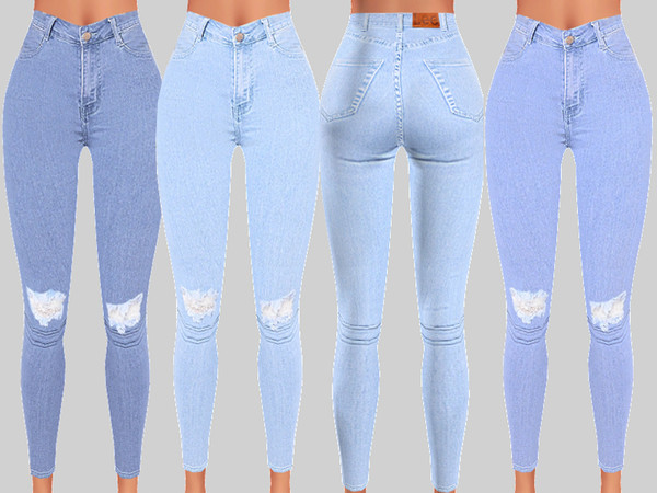 Denim Skinny Jeans 059 by Pinkzombiecupcakes at TSR image 358 Sims 4 Updates