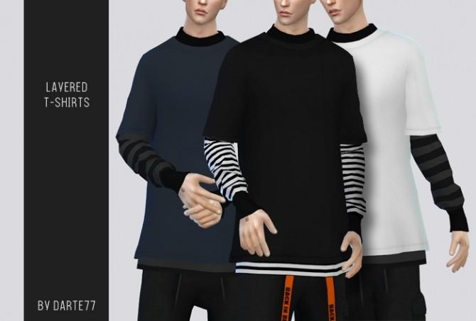 Sims 4 Layered T Shirts at Darte77