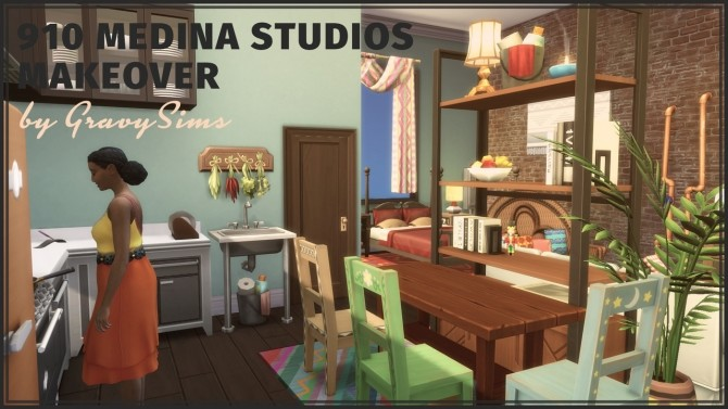 Sims 4 910 Medina Studios Makeover at GravySims