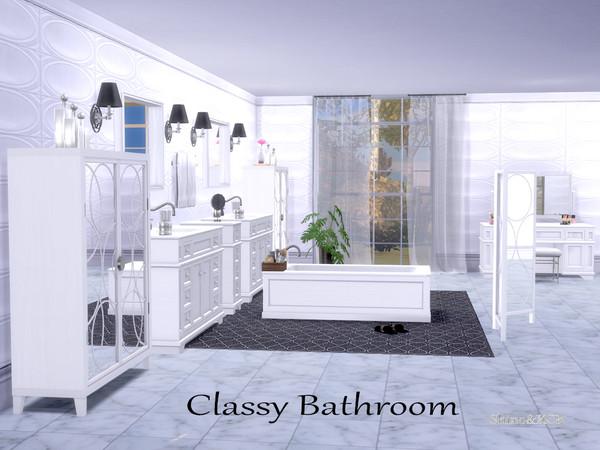 Sims 4 Bathroom Classy by ShinoKCR at TSR