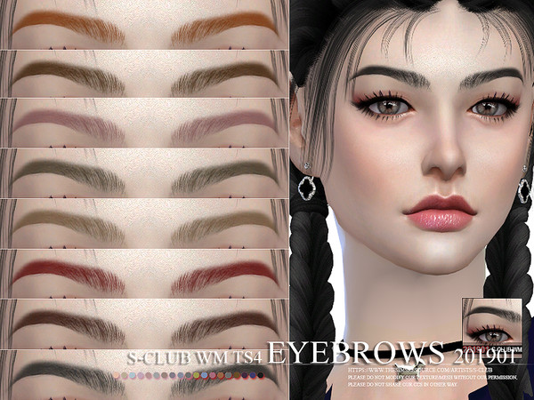 Eyebrows 201901 by S Club WM at TSR image 363 Sims 4 Updates