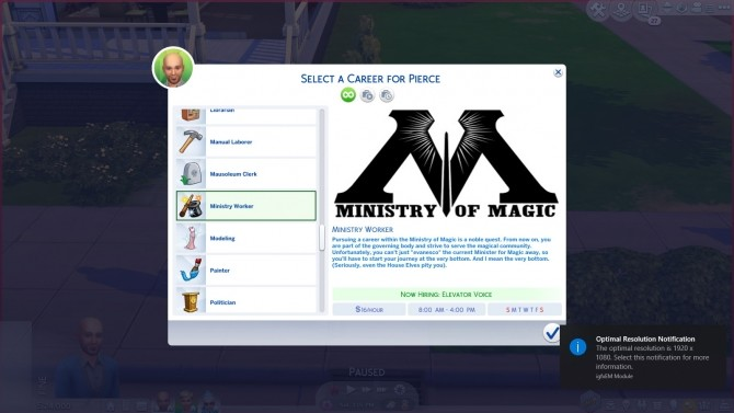 Ministry of Magic Career by Caelinaarria at Mod The Sims image 3711 670x377 Sims 4 Updates