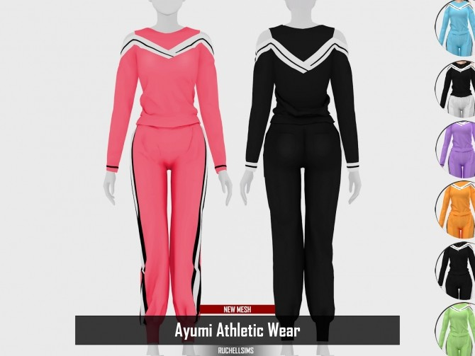 Ayumi Athletic Wear by RUCHELLSIMS at REDHEADSIMS image 3716 670x503 Sims 4 Updates
