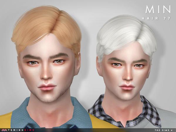 Sims 4 Min Hair 77 by TsminhSims at TSR