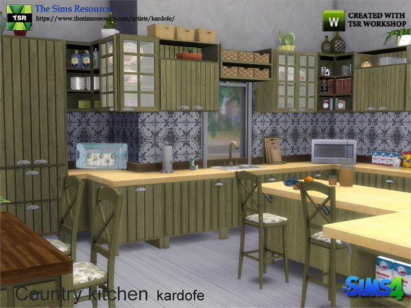 Country kitchen by kardofe at TSR image 377 Sims 4 Updates