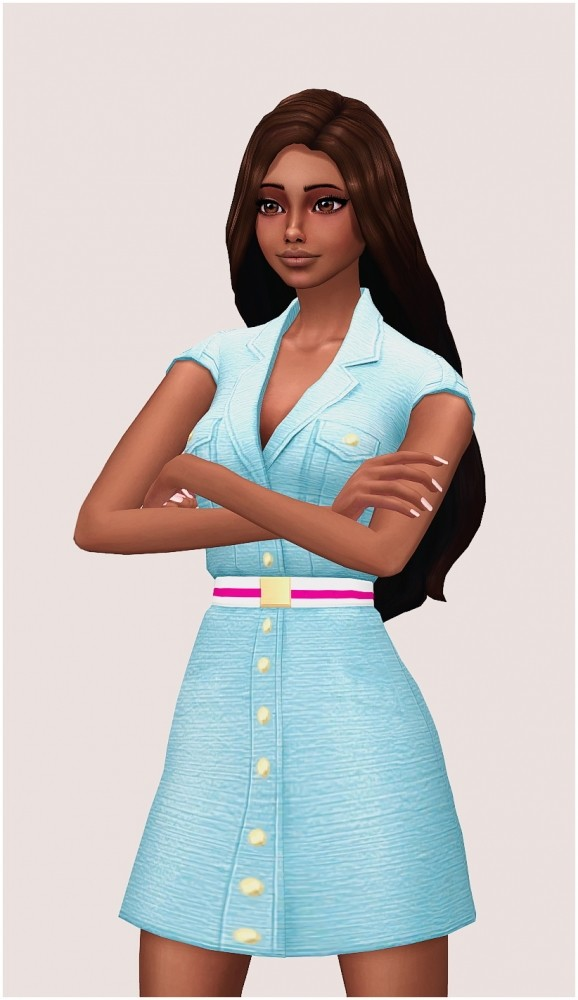 Barbie outfit at SilwerMoon Sims image 3771 578x1000 Sims 4 Updates