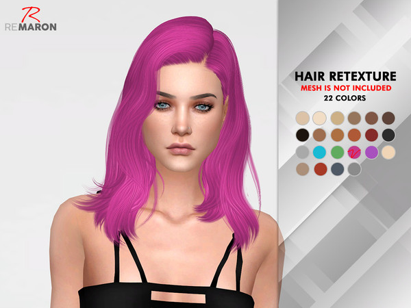 OE1221 Hair Retexture by remaron at TSR image 378 Sims 4 Updates