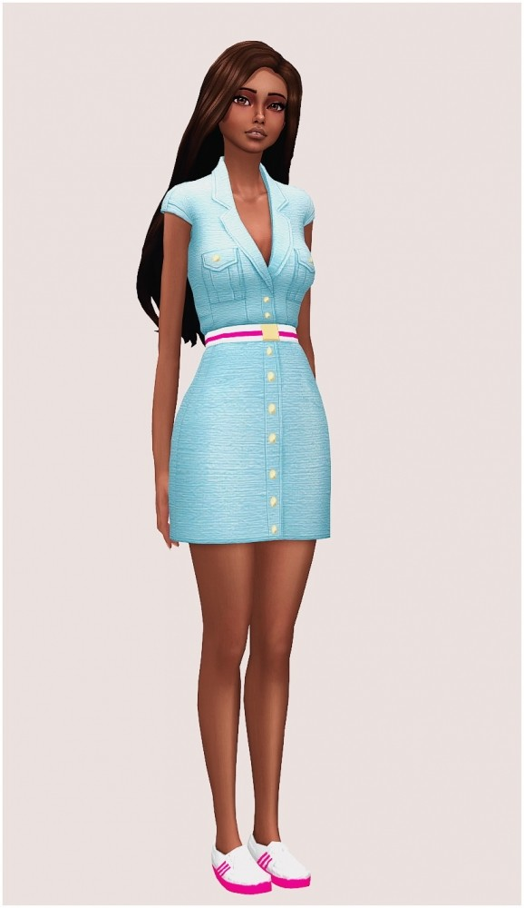 Barbie outfit at SilwerMoon Sims image 3781 578x1000 Sims 4 Updates