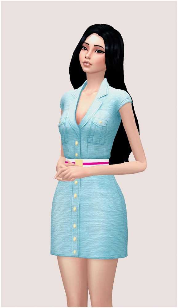 Barbie outfit at SilwerMoon Sims image 3791 578x1000 Sims 4 Updates
