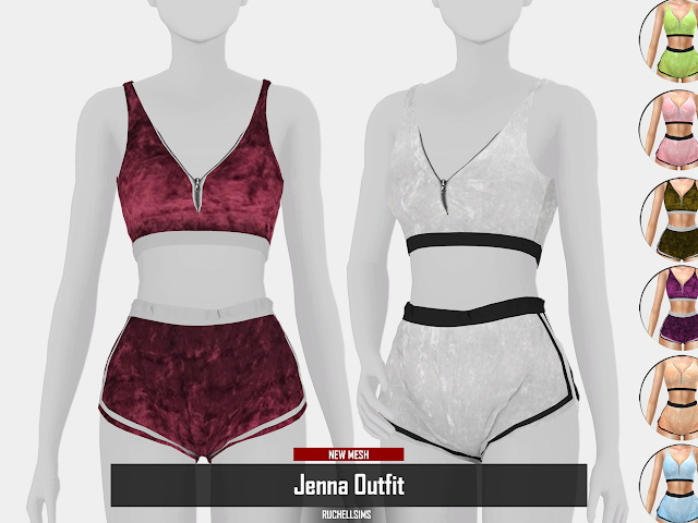 Jenna Outfit by RUCHELLSIMS at REDHEADSIMS image 3811 Sims 4 Updates