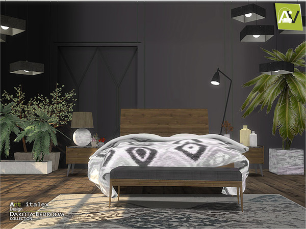 Dakota Bedroom by ArtVitalex at TSR image 382 Sims 4 Updates