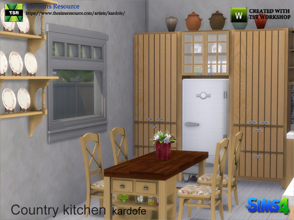 Country kitchen by kardofe at TSR image 386 Sims 4 Updates