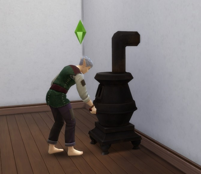 Sims 4 Working Cast Iron Stove by blueshreveport at Mod The Sims