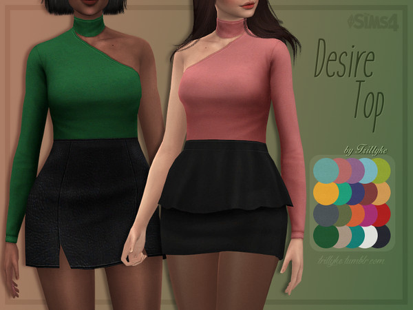 Sims 4 Desire Top by Trillyke at TSR