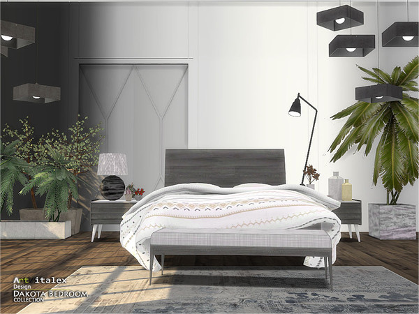 Dakota Bedroom by ArtVitalex at TSR image 393 Sims 4 Updates