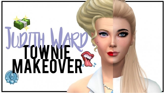 Townie Makeover | Judith Ward at MODELSIMS4 » Sims 4 Updates