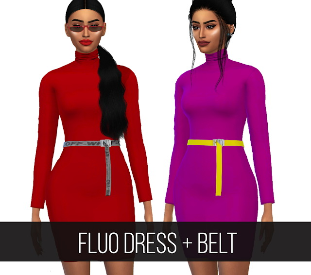 FLUO DRESS + BELT at FifthsCreations image 3961 Sims 4 Updates