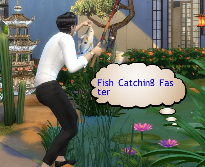 Faster Fish Catching (2X, 5X or Slower2X) by dannywangjo at Mod The Sims image 401 670x546 Sims 4 Updates