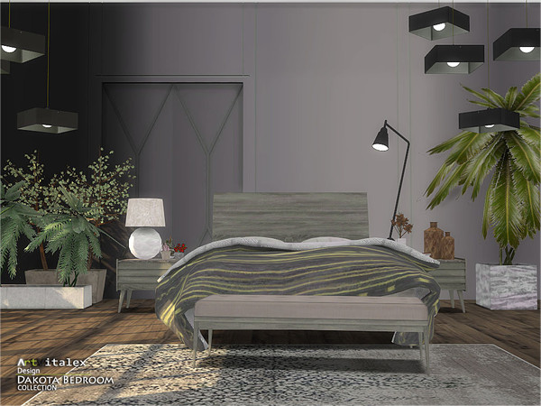 Dakota Bedroom by ArtVitalex at TSR image 403 Sims 4 Updates