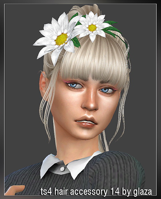 Hair accessory 14 at All by Glaza image 405 Sims 4 Updates