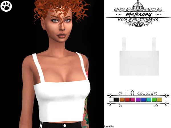 Cropped Tank tops by MsBeary at TSR image 407 Sims 4 Updates