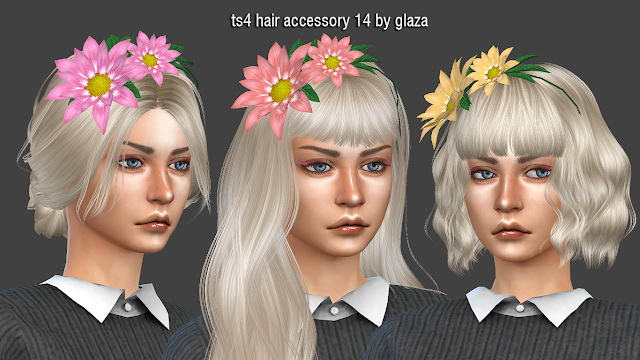 Hair accessory 14 at All by Glaza image 4110 Sims 4 Updates