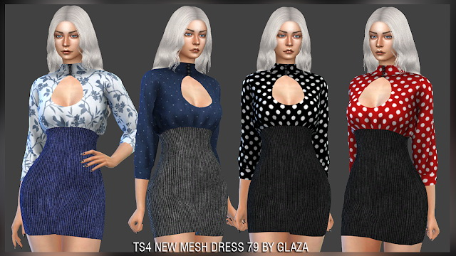 Dress 79 at All by Glaza image 4120 Sims 4 Updates