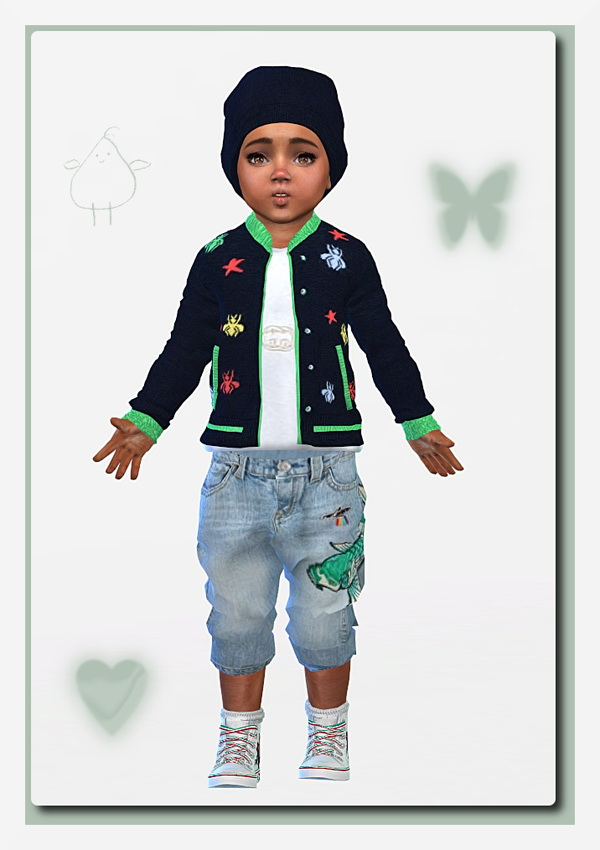 Sims 4 Designer Outfit for Toddler Girls & Boys at Sims4 Boutique