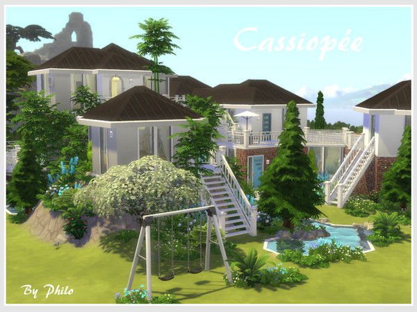 Sims 4 Cassiopee house by philo at TSR