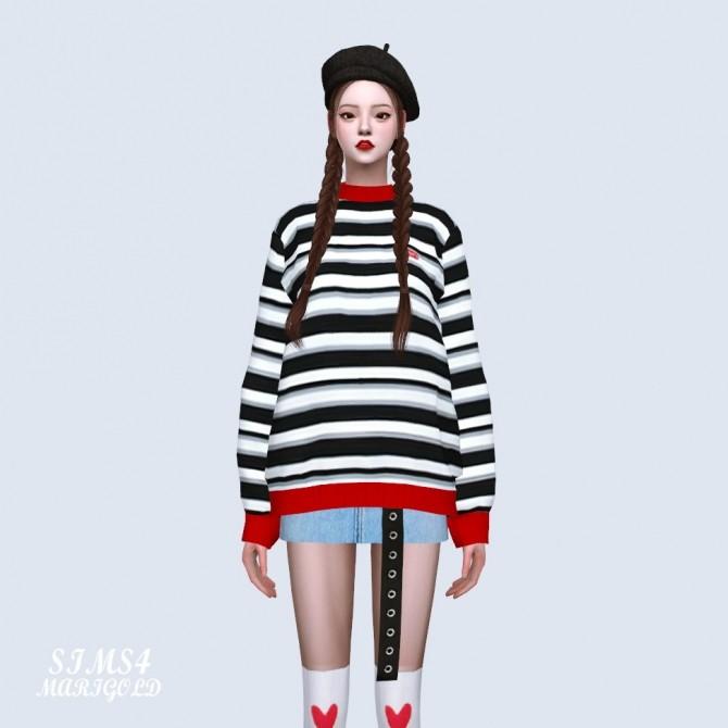 Sims 4 Stripe Sweater at Marigold