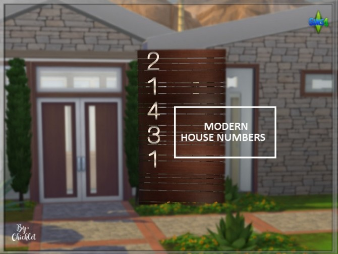 Modern House Numbers at Simthing New image 4213 670x503 Sims 4 Updates