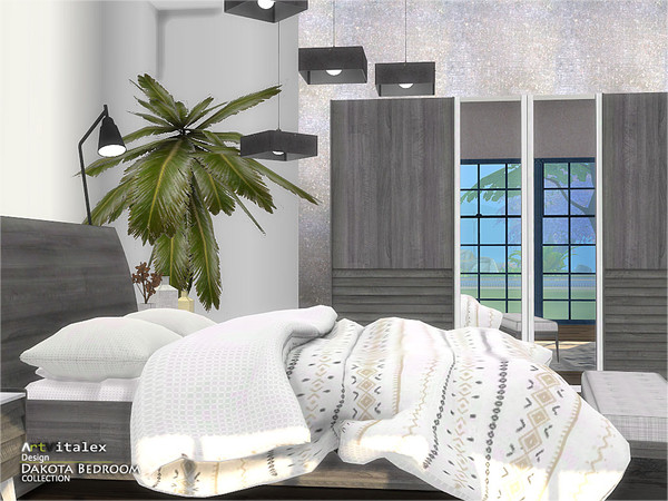 Dakota Bedroom by ArtVitalex at TSR image 423 Sims 4 Updates