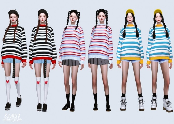 Stripe Sweater at Marigold image 4231 670x477 Sims 4 Updates
