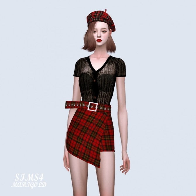Wrap Skirt With Belt at Marigold image 4271 670x670 Sims 4 Updates