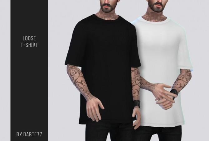 Sims 4 Loose T Shirt at Darte77