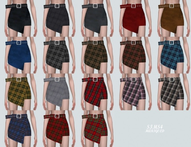 Wrap Skirt With Belt at Marigold image 430 670x517 Sims 4 Updates
