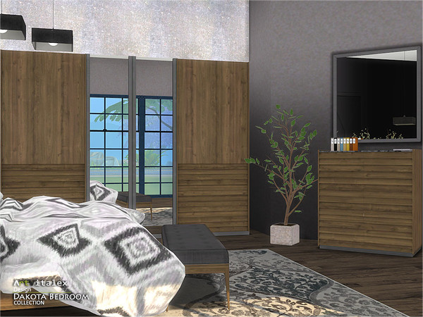 Dakota Bedroom by ArtVitalex at TSR image 433 Sims 4 Updates