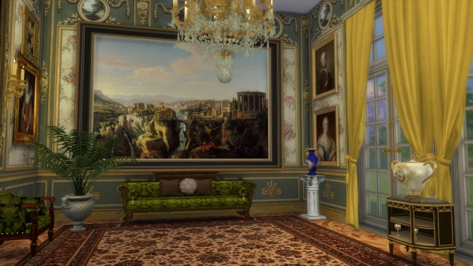 Marie Antoinette Floral Walls At Regal Sims 187 Sims 4 Updates