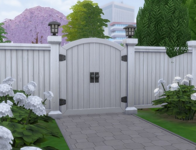 Sims 4 White Recolors on 6 Base Game GATES by simsi45 at Mod The Sims
