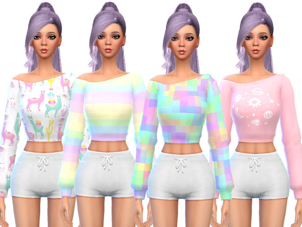 Sims 4 Snazzy Long Sleeved Shirts by Wicked Kittie at TSR