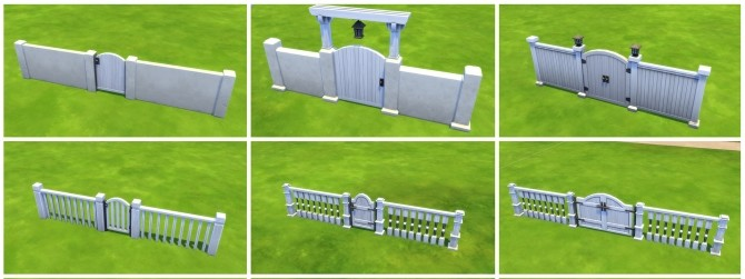 White Recolors on 6 Base Game GATES by simsi45 at Mod The Sims image 456 670x251 Sims 4 Updates