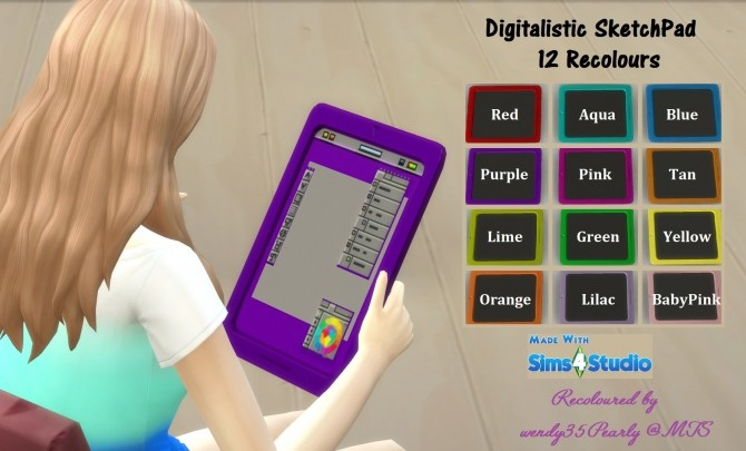 Digitalistic Sketchpad 12 Recolours by wendy35pearly at Mod The Sims image 4614 670x405 Sims 4 Updates