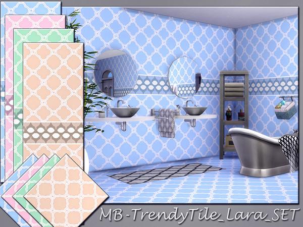 Sims 4 MB Trendy Tile Lara SET by matomibotaki at TSR
