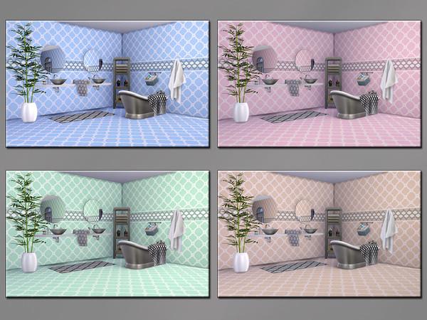 MB Trendy Tile Lara SET by matomibotaki at TSR image 473 Sims 4 Updates