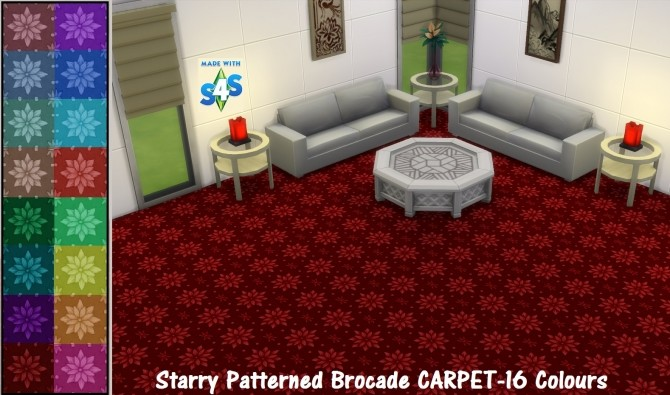 GP04 Starry Patterned Brocade 16 Colours by wendy35pearly at Mod The Sims image 474 670x395 Sims 4 Updates