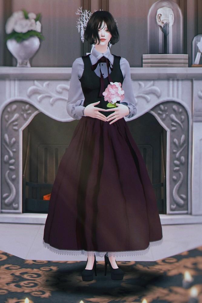 Vintage Lolita High Waist Skirt at SHENDORI SIMS image 479 667x1000 Sims 4 Updates