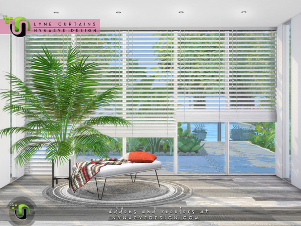 Sims 4 Lyne Curtains by NynaeveDesign at TSR