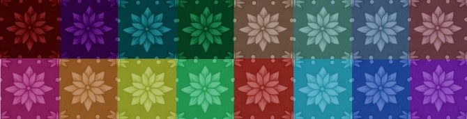 GP04 Starry Patterned Brocade 16 Colours by wendy35pearly at Mod The Sims image 484 670x171 Sims 4 Updates