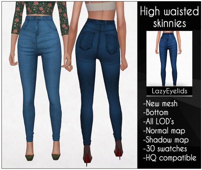 Sims 4 High waisted skinnies at LazyEyelids