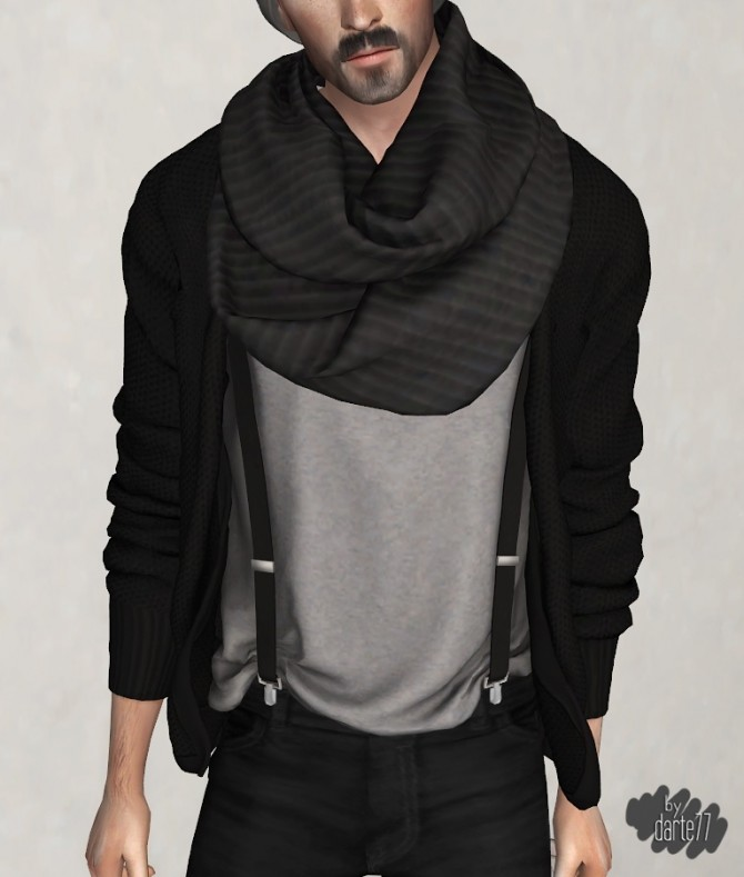 Infinity Scarf at Darte77 image 498 670x789 Sims 4 Updates